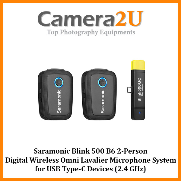 Saramonic Blink 500 B6 2-Person Digital Wireless Omni Lavalier Microphone System for USB Type-C Devices (2.4 GHz)