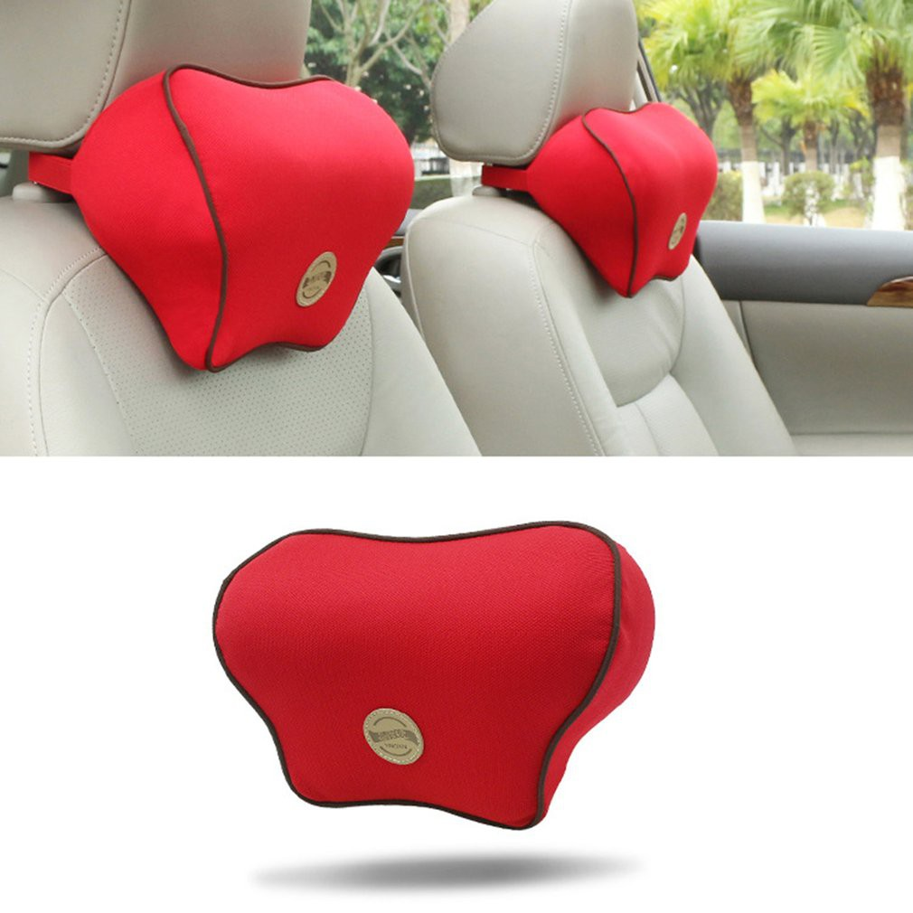 Universal Car Slow Rebound Headrest Cushion Memory Cotton Pillow Head Neck