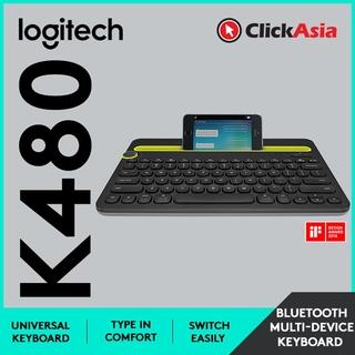 b85a0846e9d Logitech K480 Bluetooth Wireless keyboard - Black 920-006380 | Shopee  Malaysia