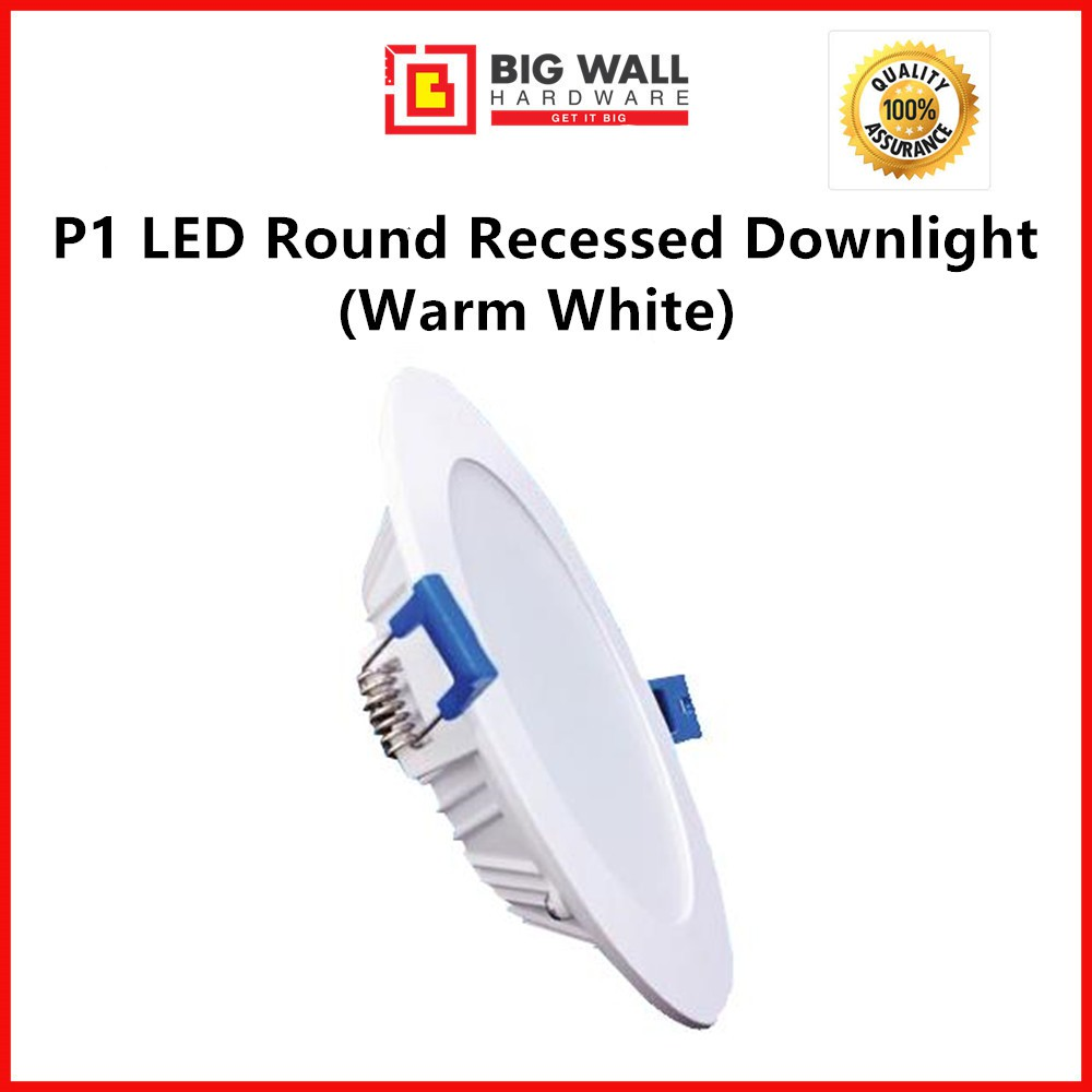 """Perfect One P1 LED Round Recessed Downlight - 12w (4"""")/18w (6"""") available in Warm White Cool White & Cool Day Light"""