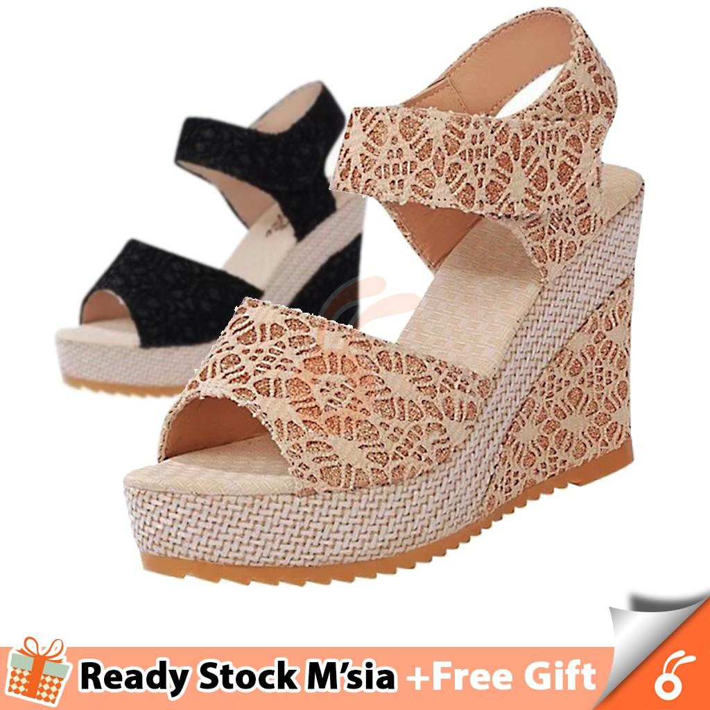 7f10332ff4e 1024 Taccy Women High Heels Shoes Wedges Sandal