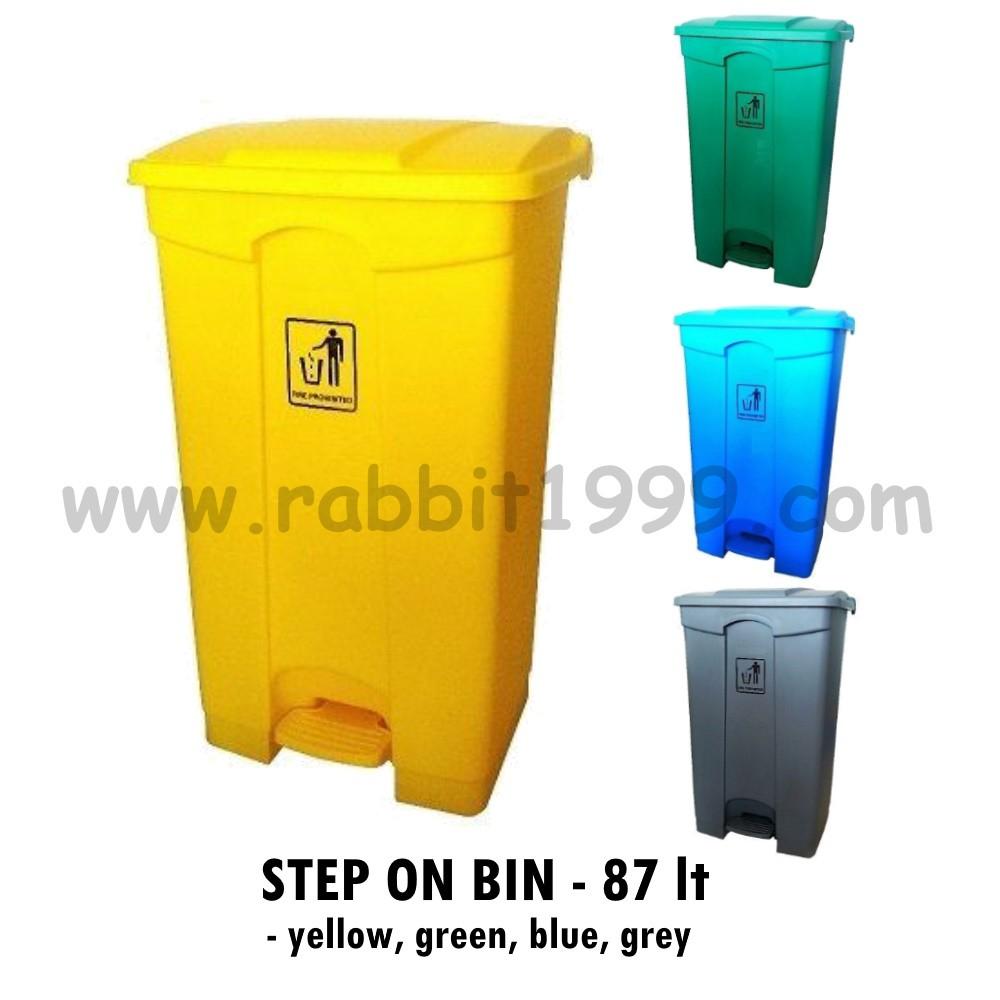 STEP ON BIN 87L - bin/ recycle bin/ rubbish bin/ dustbin/ trash bin/tong sampah/ pedal bin/ clinical watse step on bin
