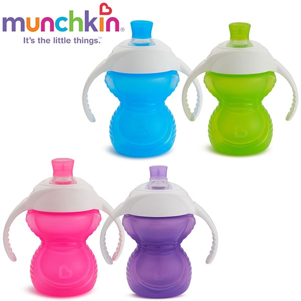 Munchkin Click to Lock Sippy Cup with Chew Proof Spout 10 oz//296 ml Color
