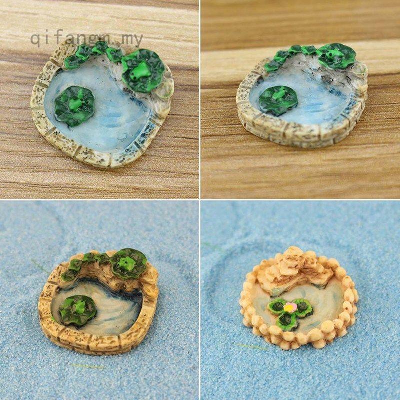 Mini Resin Pools Fairy Garden Miniatures Micro Landscape Decor 8C