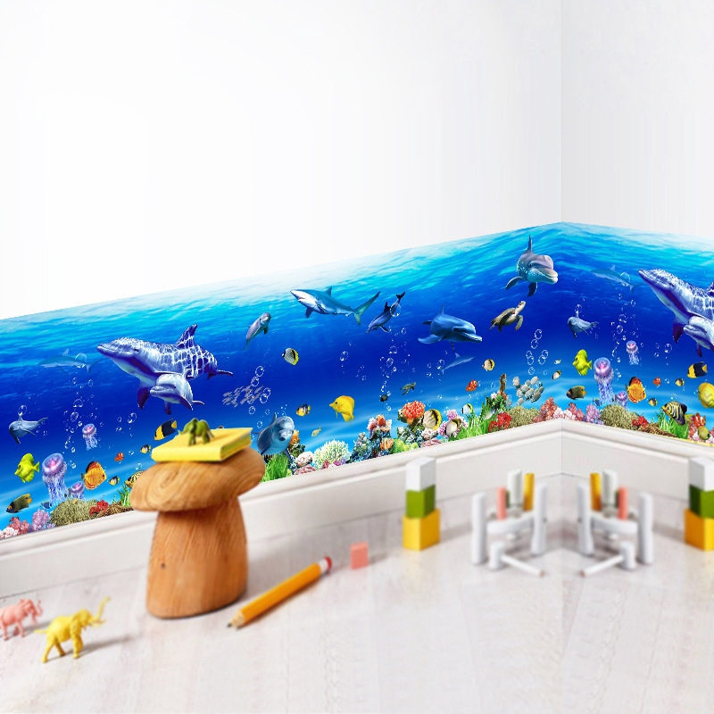 Tile Sticker Bathroom Kitchen Stickers Tiles Picture Dolphins in water her