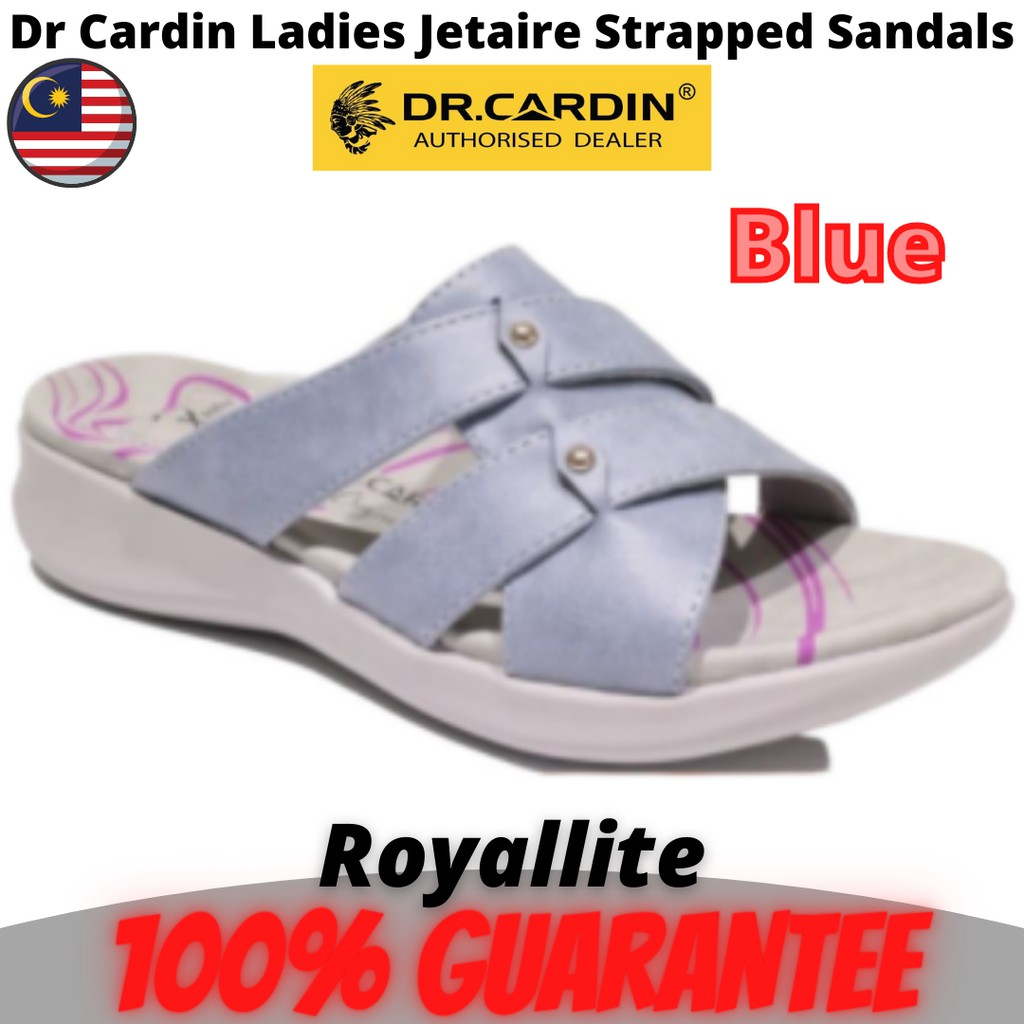 Dr Cardin Ladies Jetaire Strapped Sandals (8916) Blue & Pink