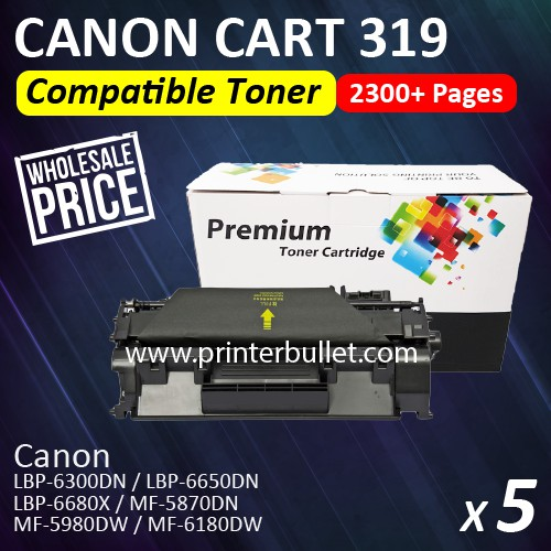 5 unit Canon 319 / Cartridge 319 High Quality Compatible Toner Cartridge