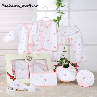 28bcc6aa3da Fashion Mother 7PCS/Set Newborn Baby Clothes Infants Clothing Suit Outfits  | Shopee Malaysia