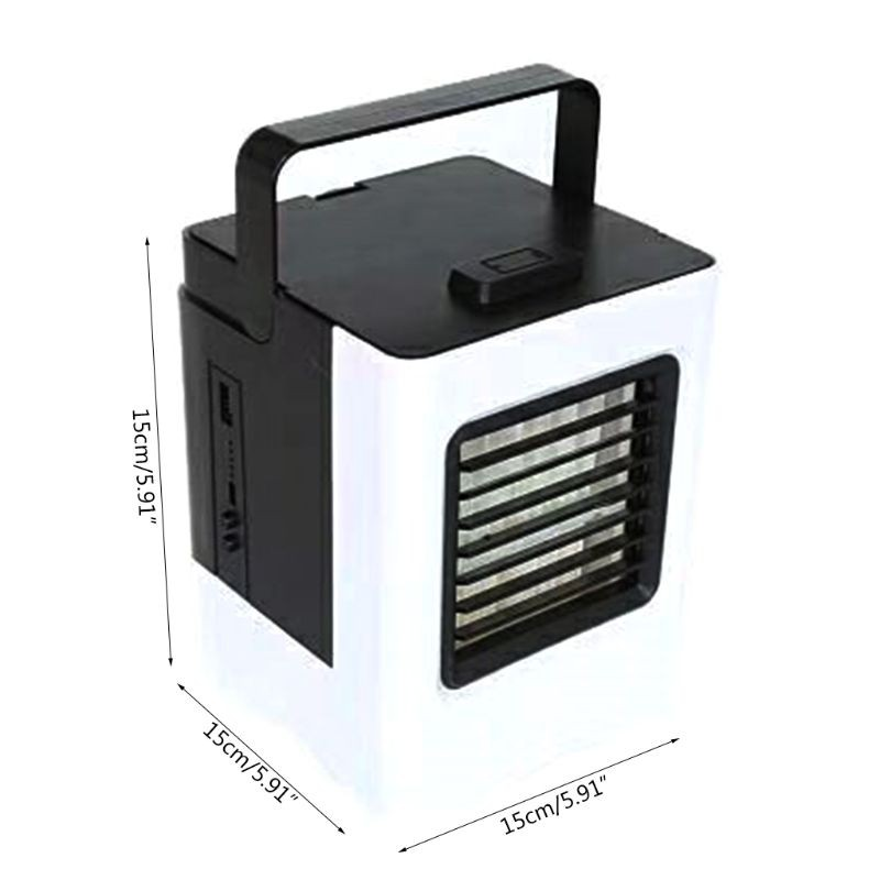 USB Air Cooler Mini Portable Air Conditioner Fan Noiseless Evaporative Air  Humidifier for Room Office Desktop Nightstand
