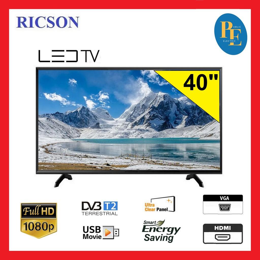 """Ricson Digital T2 FHD LED TV 40"""" - 40RT02"""