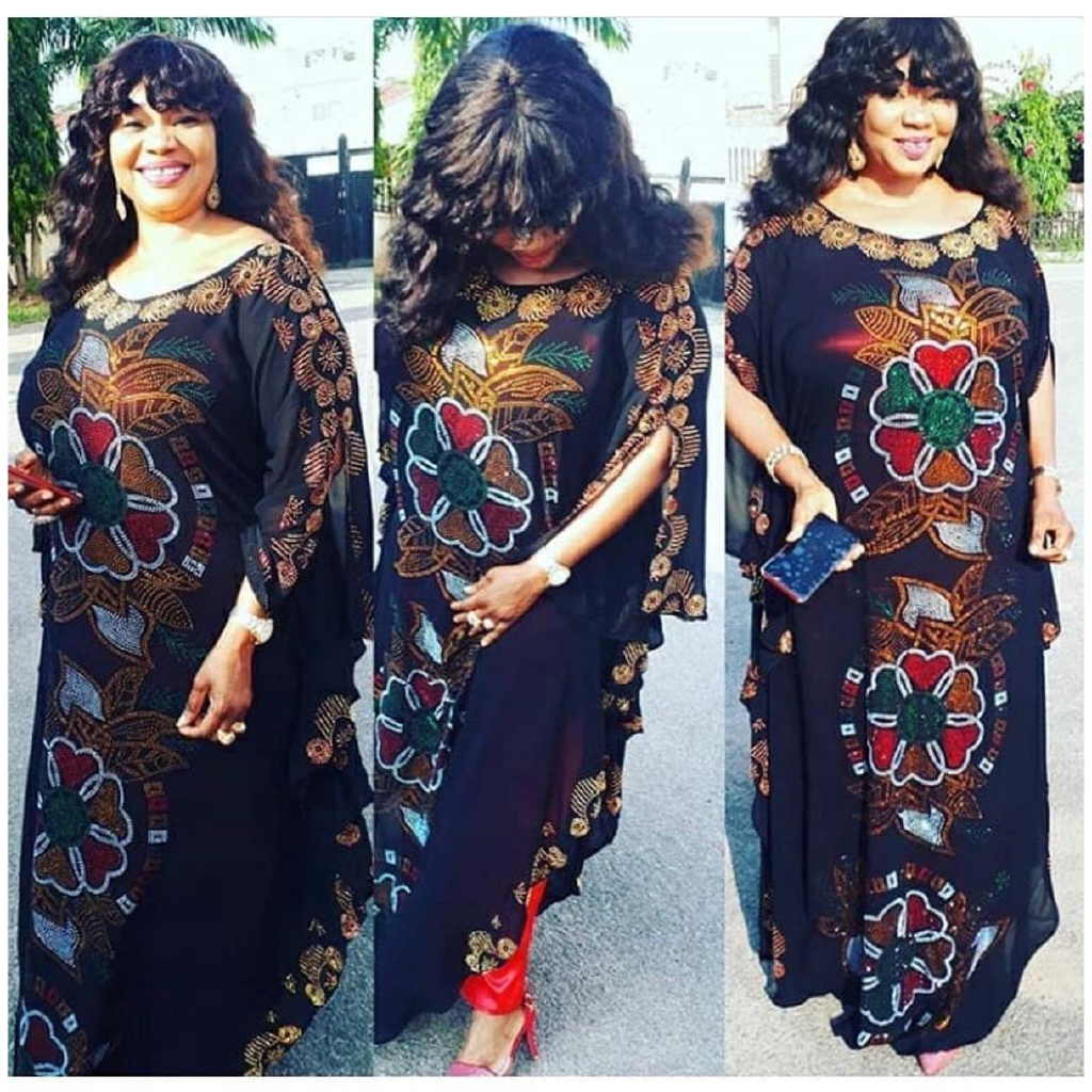 Women African Style Rhinestone Long Evening Dress Cover Up