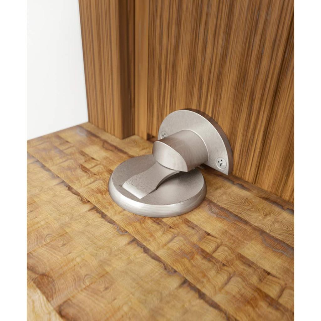 3M Double-Sided Self Adhesive Tape Keep Your Door Open No Drilling Door Holder Doorstop Door Stopper 1 Pack Magnetic Door Stop White Stainless Steel Door Catch