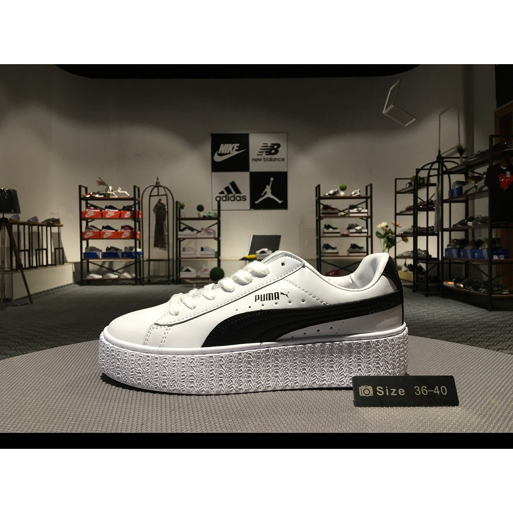 separation shoes b3254 b02aa Original Ready stock Puma shoes sneakers men&women sports PUMA Clyde Core L  Foil Jr White