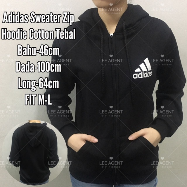 Nikeadidassupreme Sweater Zip Hoodie Unisex Shopee Malaysia