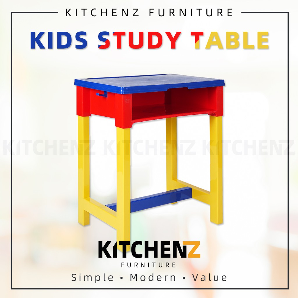 Kids Study Table and Drawer Storage / Tubehome Primary Student Table / Multicolor / Meja Belajar / Ready Stock - TH-SRK