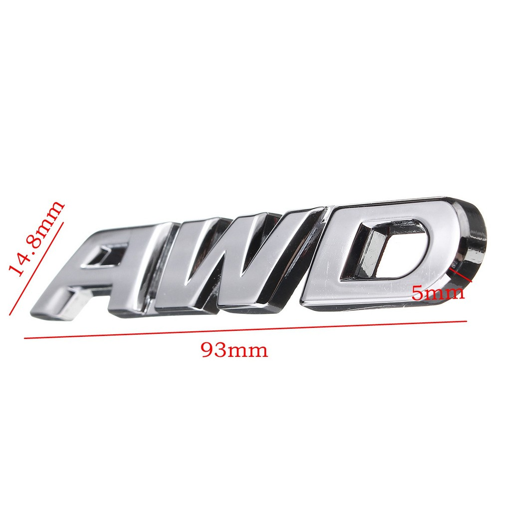 3D Metal Tailgate Side Sticker AWD Badge Replacement For 4x4 All Wheel Drive SUV Off Road black AWD Emblem