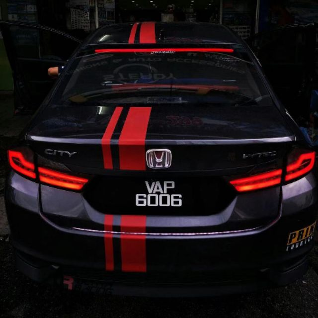 (Ver  2) Honda city 2014-19 bmw design tail lamp with running sequential  signal