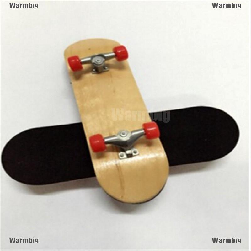 Wooden Fingerboard Finger Skate Board Grit Box Foam Tape Maple Wood  Kids Toy