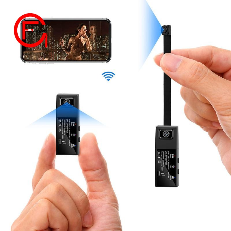 Hidden Spy Camera, Mini WiFi HD 1080P Wireless Security Nanny Cam for  iPhone/Mac / Android/Wind