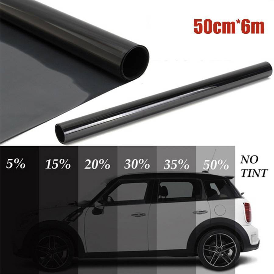 WINDOW TINT FILM TINTING BLACK KIT  SMOKE 35/% 50cm x 6M