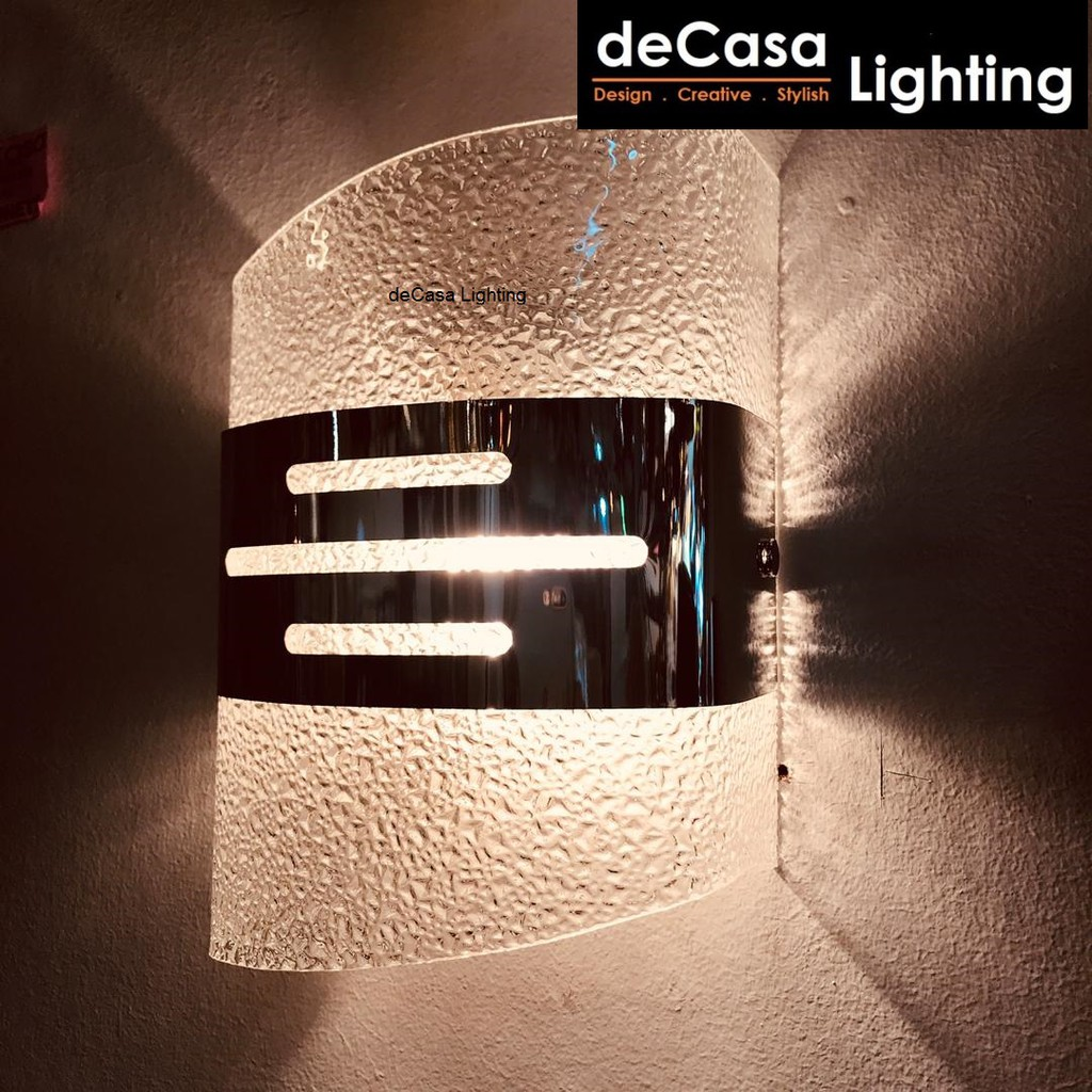 DECASA LIGHTING Modern Glass Indoor Decorative Wall Lamp Bedroom Bedside Lighting Decasa Lighting Lampu Dinding (5485)