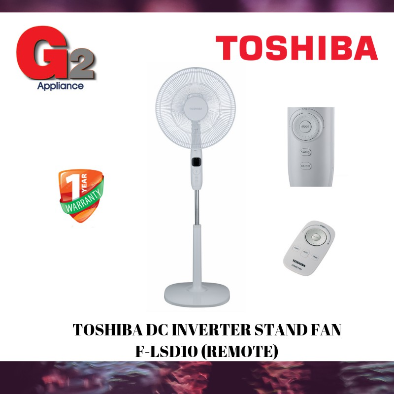 TOSHIBA DC INVERTER STAND FAN F-LSD10 (REMOTE)