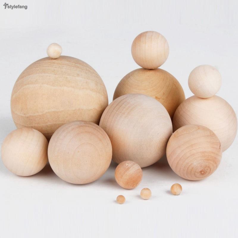 DIY Painting  Natural Wooden Balls Round Sphere Craft Supplies 5-8cm Diameter S