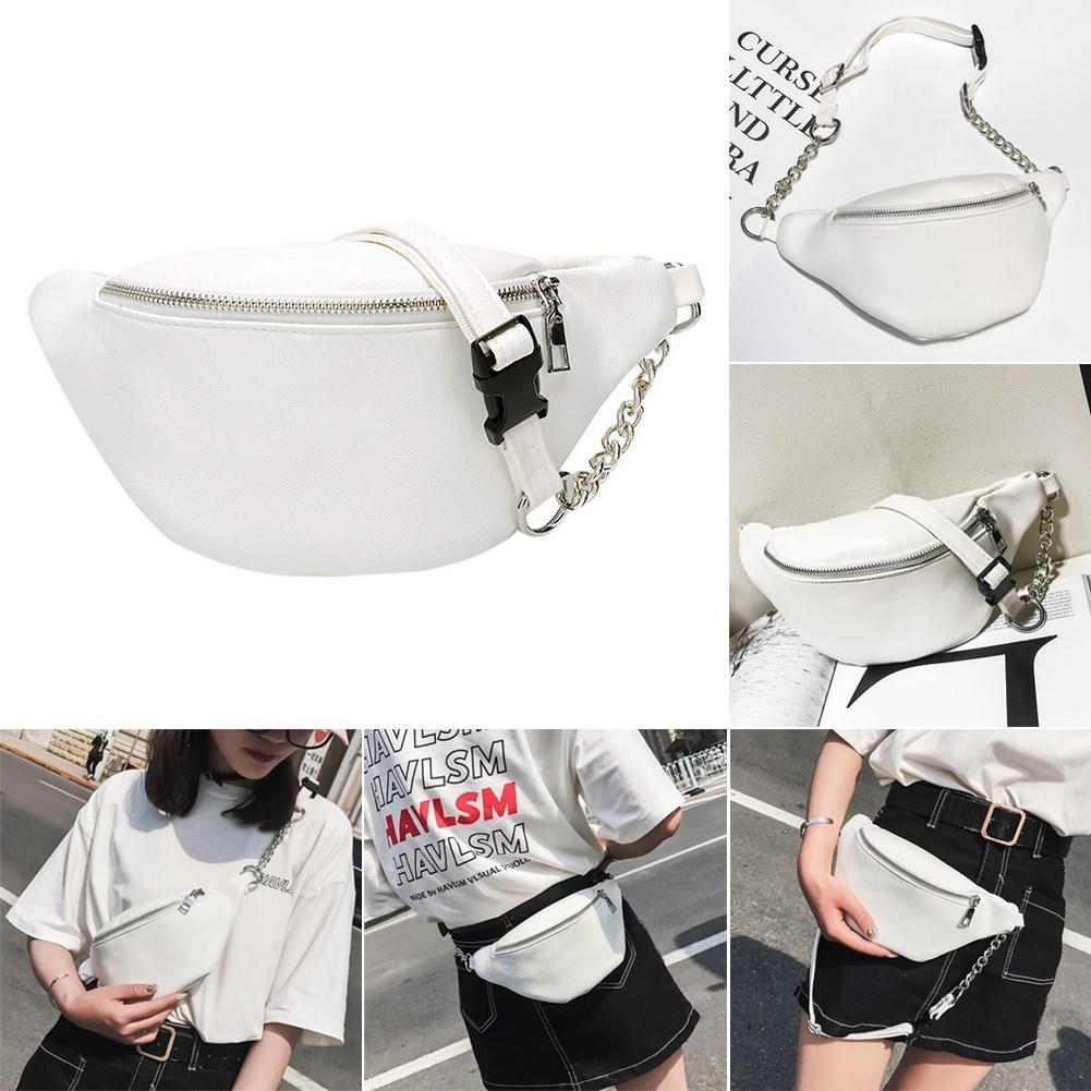 9656ccaa33f Casual Waist Bag PU Leather Belt Bags Women Rivet Waist Belt Pack ...