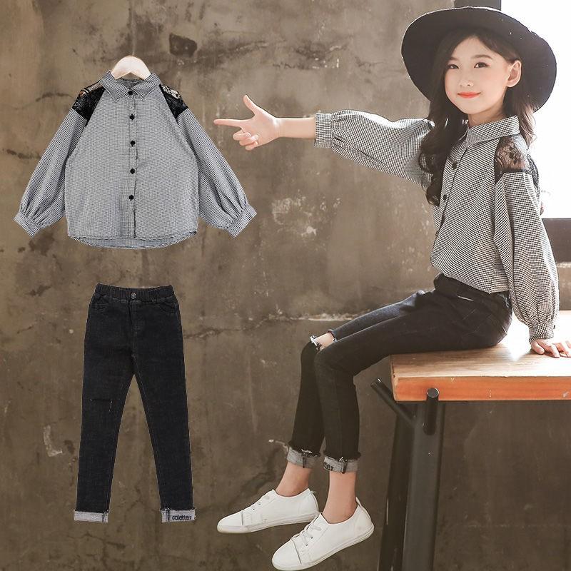 Pakaian Kanak Kanak Perempuan Musim Bunga 2020 Versi Korea Baru Dari Pakaian Pasang Sut Baju Kanak Kanak Asing Seluar Jeans Dua Helai Shopee Malaysia