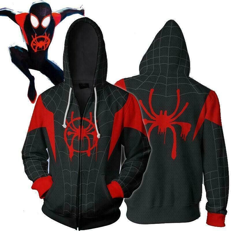 a50e400ec woman and man Spider-Gwen Gwen Stacy hoodie Black Panther Venom Spiderman  hoodie | Shopee Malaysia