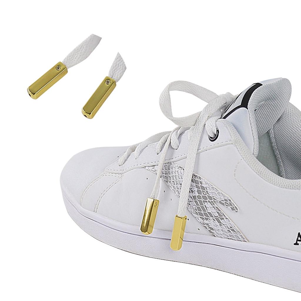 Fashion Gold 4pcs Aglets High Quality Metal Zinc Alloy Shoelaces Tips Aglet Tip