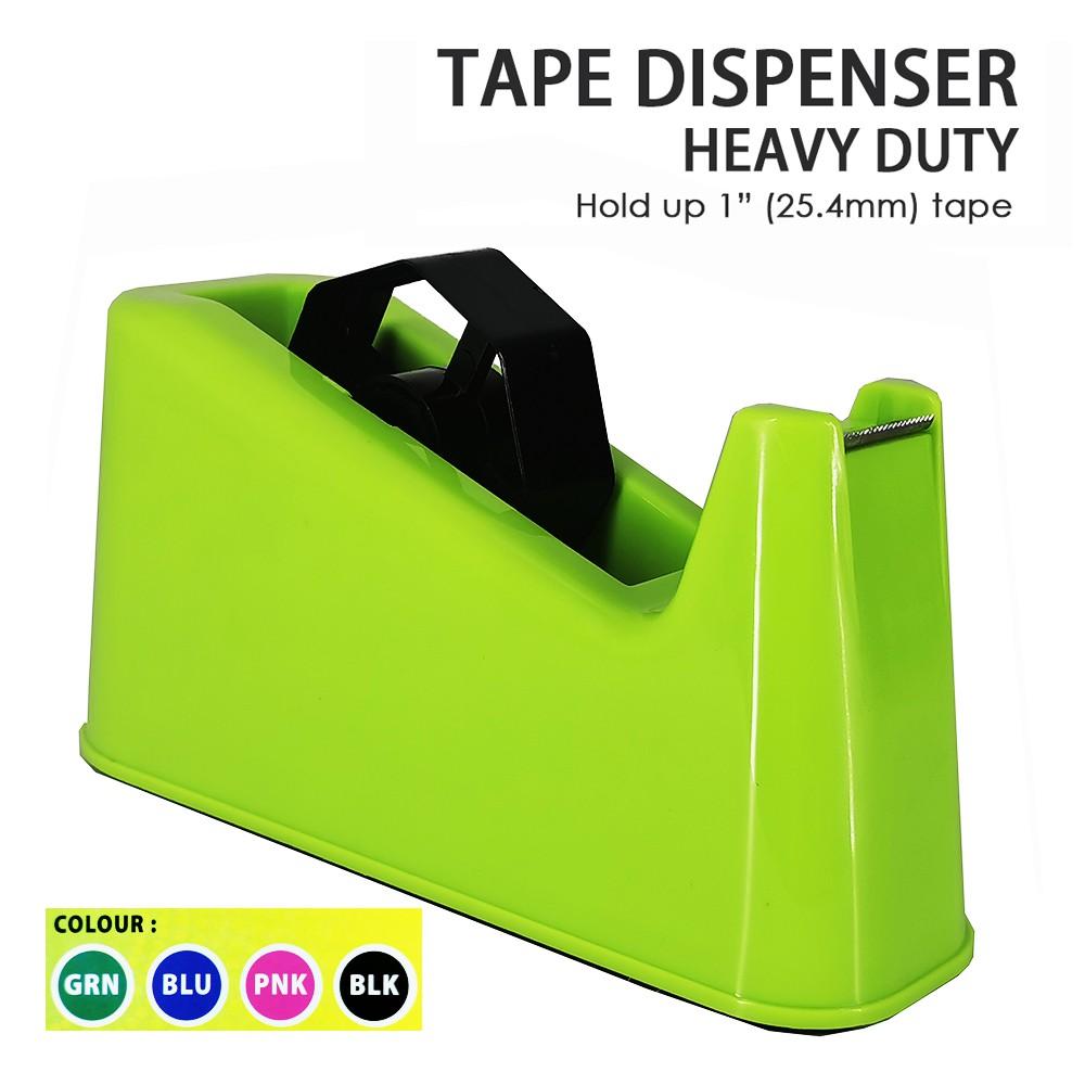 "Super Heavy Duty Tape Dispenser 1.4kg Adhesive Tape 1"" (25.4mm) Tape"