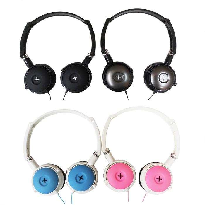 MALAYSIA: HEADPHONE TELINGA MURAH / Cute Button Design Cable Winder Cable Headphone
