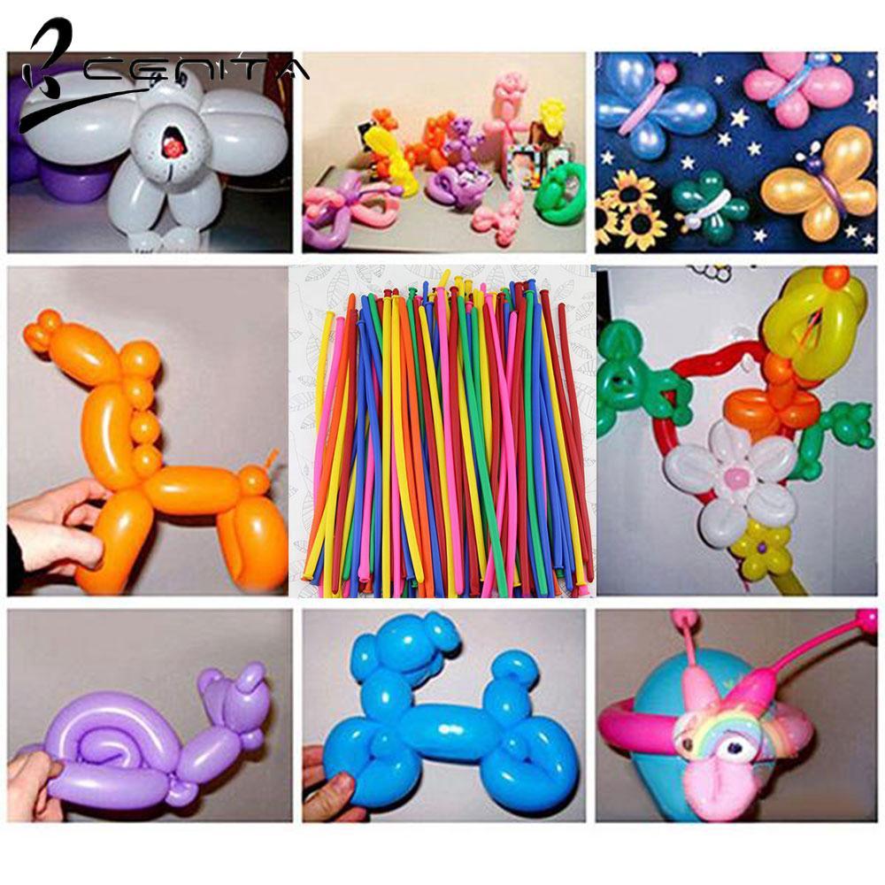 20-100pcs Magic Long Balloons Assorted Colour Twist Making Animals Latex Balloon