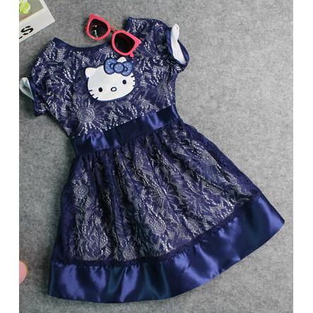 Navy Blue Hello Kitty Dress