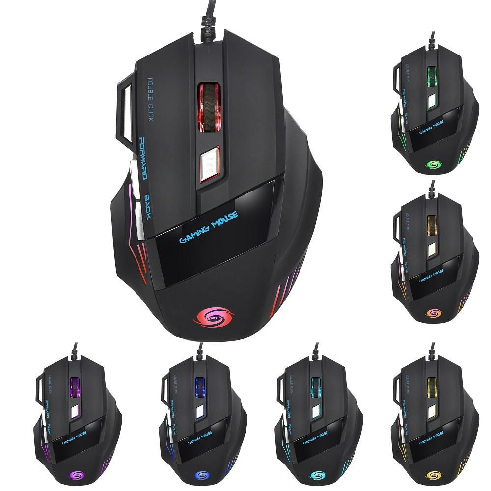 84b583fd5bc JWFY USB Wired LED Optical Gaming Mouse 5500DPI Resolution | Shopee Malaysia