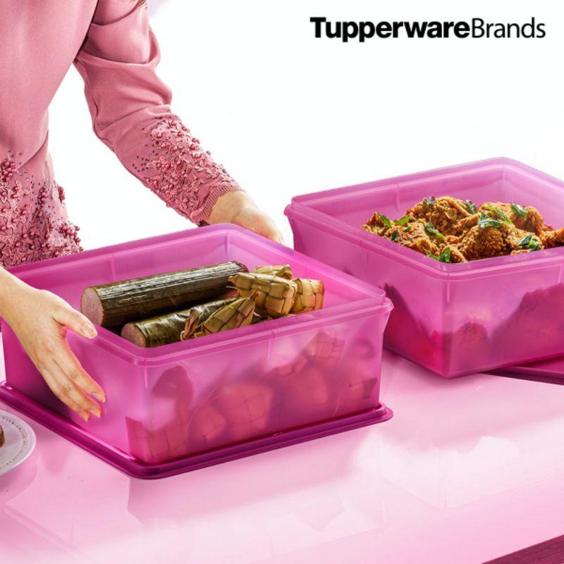 Tupperware Mega Keeper (1) 10.5L Tupperware 10.5L Bekas Tupperware Purple