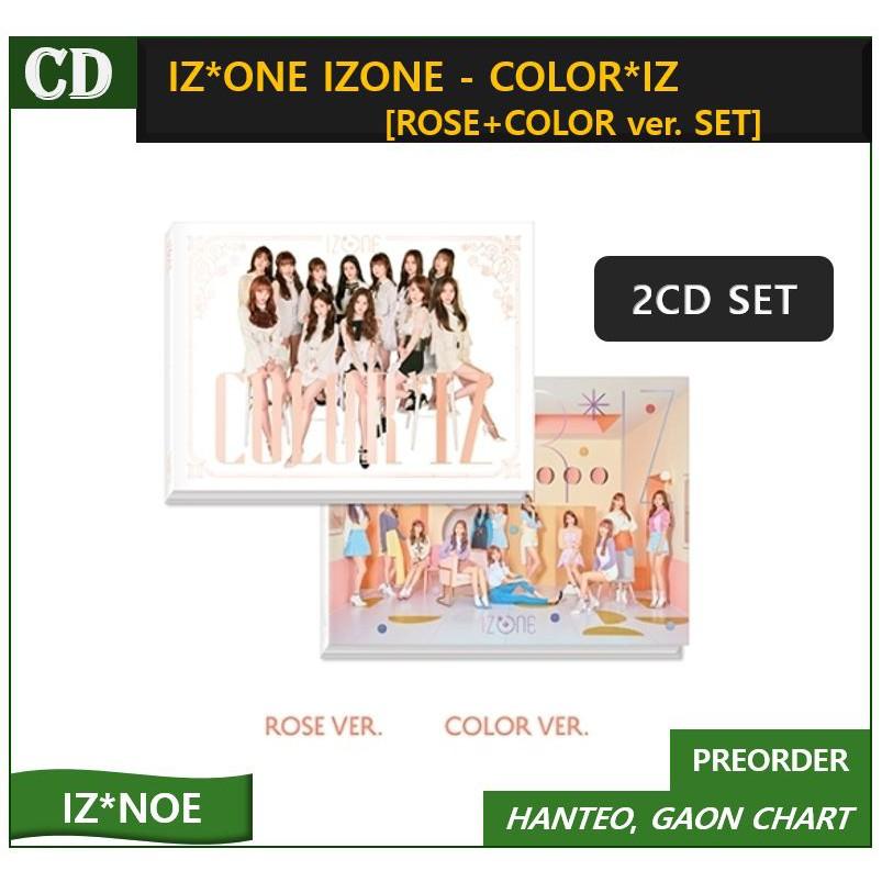IZ*ONE IZONE - COLOR*IZ [ROSE+COLOR ver  SET]  2CD+Photobook+Photocards+1Posters