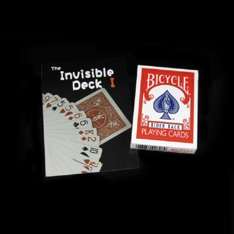 New Invisible Deck Magic Playing Cards Gaff Bicycle Red Back