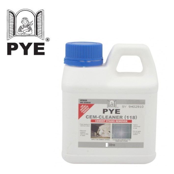PYE CEM CLEANER / CEMENT STAIN REMOVER (118) 4LIT.