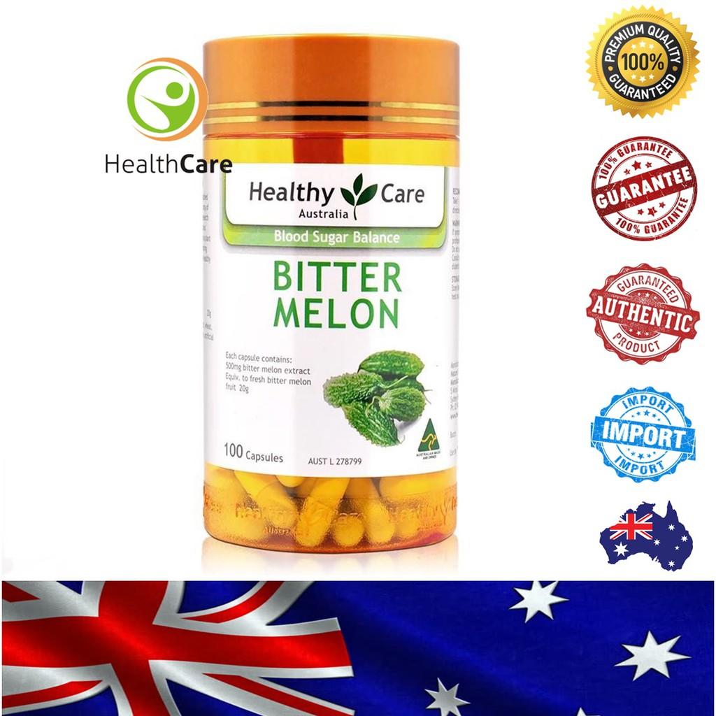 【Ready Stock】Healthy Care Bitter Melon 苦瓜素胶囊  速瘦减肥消脂瘦身 (100 Capsules/胶囊)