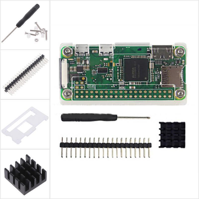 4 in 1 kit Acrylic Case for Raspberry Pi Zero 1.3//W with Heat sink P/_WK