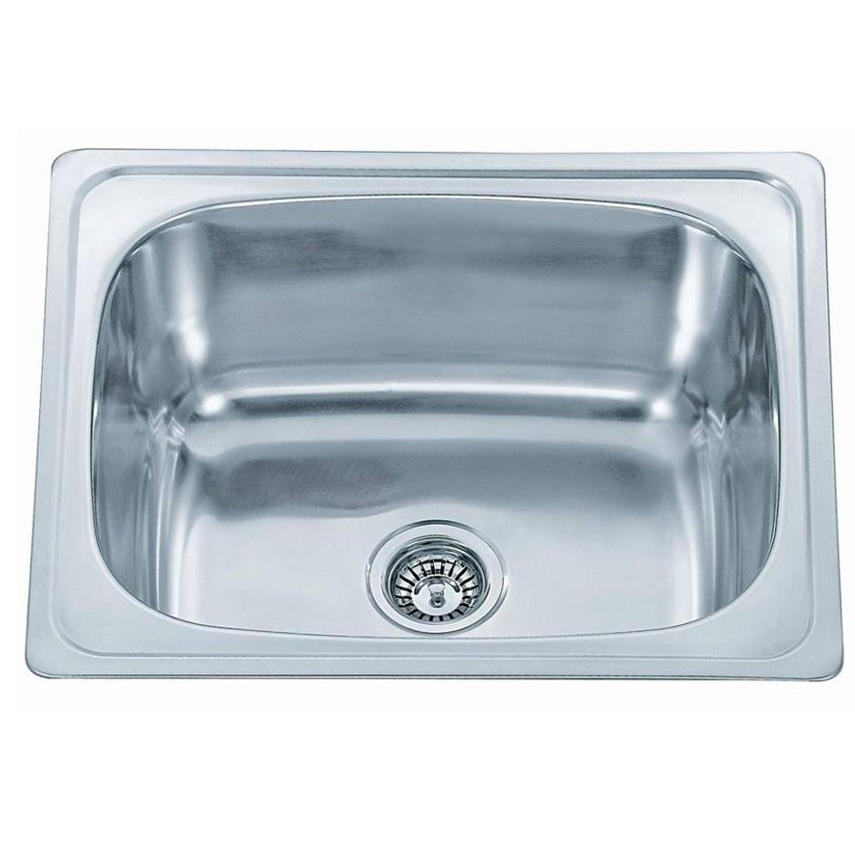 Single Bowl Stainless Steel Sink C/W Waste NKS-885