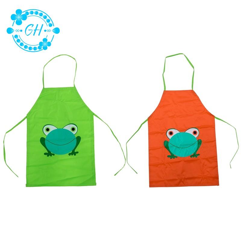 Art Cartoon Cute Painting Drink Kids Frog Design Apron Waterproof Children