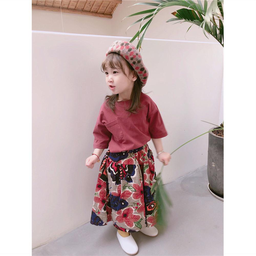 Child Girls Korean Spring Cotton Sweater shirts Blouse pants 2sets