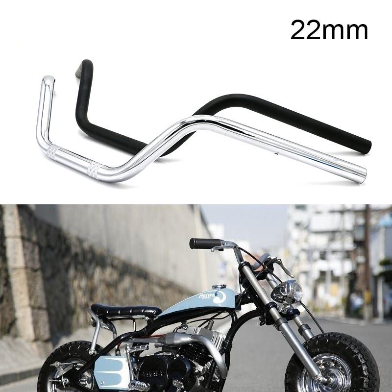 "For Honda Yamha Suzuki Black 7//8/"" 22mm Motorcycle Handlebars High-Rise Drag Bar"
