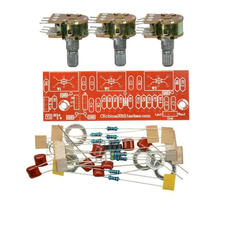 Amplifier Passive Bass Treble Tone Board Volume Control Pre-amplifier Board  Kits