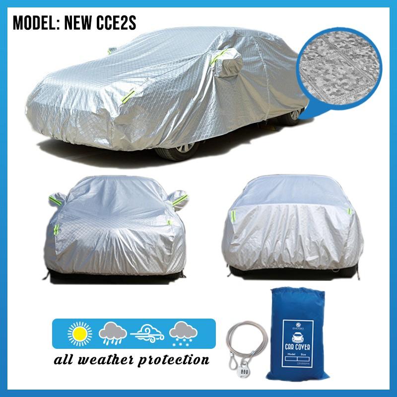 Full Car Cover Rain Dust Sunlight Protection (Model NEW CCE2S)