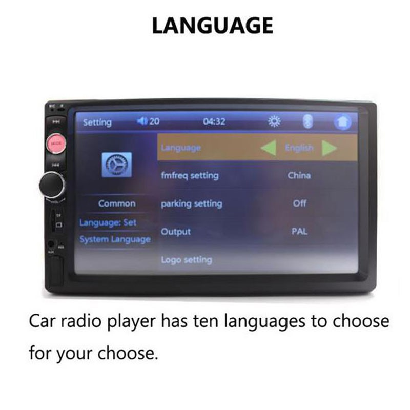 7010B 2 Din Car Radio 7''Inch MP5 Player MP4 Bluetooth Touch Screen