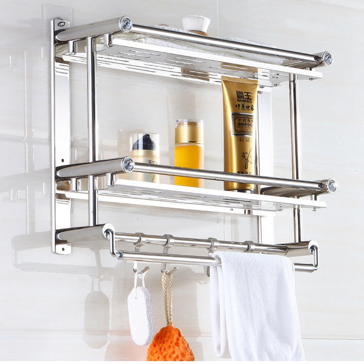 Stainless Steel Bathroom Shelves 60cm, Stainless Steel Bathroom